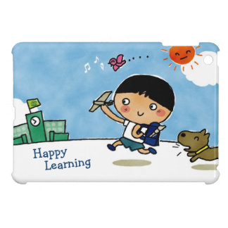 Happy Learning Boy Heading to School with Puppy Cover For The iPad Mini