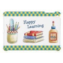 Happy Learning in School - Watercolor Stationery iPad Mini Case