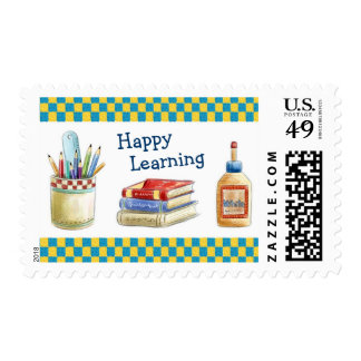 Happy Learning in School - Watercolor Stationery Postage