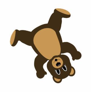 Happy Left Tumbling Brown Bear Photo Cutout