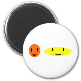 Happy Lemon and Orange 2 2 Inch Round Magnet