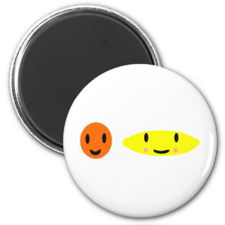 Happy Lemon and Orange 2 Magnet