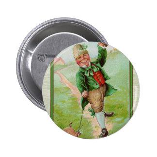Happy Leprechaun Buttons