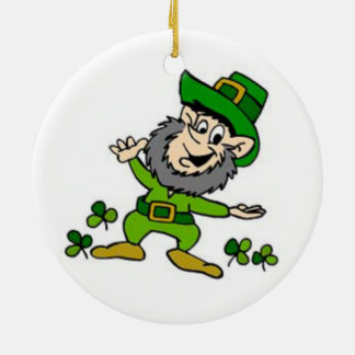 Happy Leprechaun Ceramic Ornament