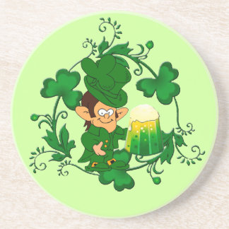 Happy Leprechaun Coaster
