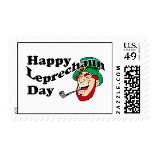Happy Leprechaun Day Postage