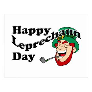 Happy Leprechaun Day Postcard