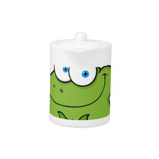 Happy Leprechaun Frog Teapot