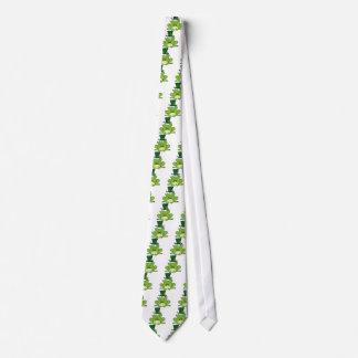 Happy Leprechaun Frog Tie