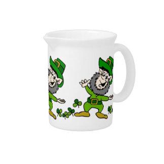 Happy Leprechaun Beverage Pitcher