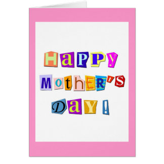 happy letters for my mom customize card