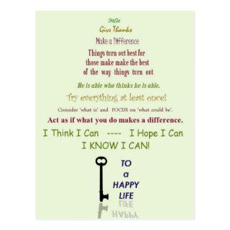 Happy Life Postcard