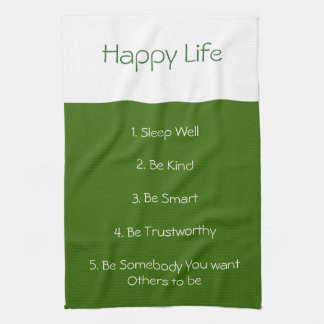 Happy Life recipe towel