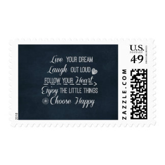 Happy Life Rules Quotes Affirmations Postage