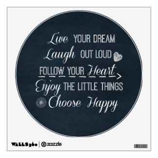 Happy Life Rules Quotes Affirmations Wall Decor