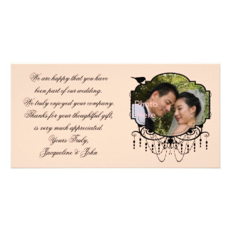 Happy Life ~ Wedding Thank You Picture Bridal Card