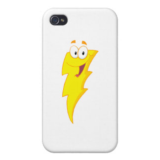 Happy Lightning Mascot Cartoon Character Cover For iPhone 4