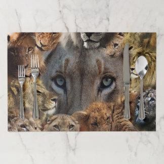 Happy Lions Paper Placemat
