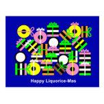 Happy Liquorice-Mas Postcard