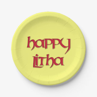 Happy Litha Paper Party Plate