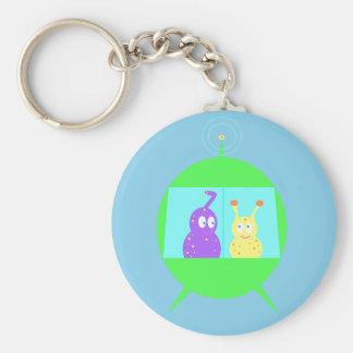 Happy Little Aliens keychain