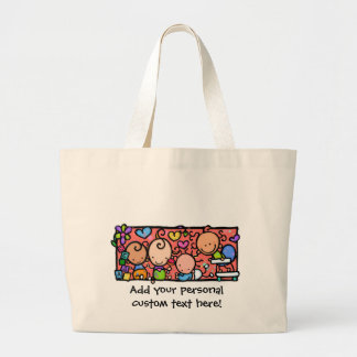 Happy Little Babies Customizable tote Bags