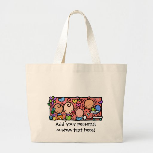 Happy Little Babies. Customizable tote Bags