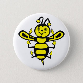Happy Little Bee Button