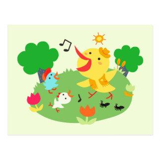 Happy Little Birds Postcard