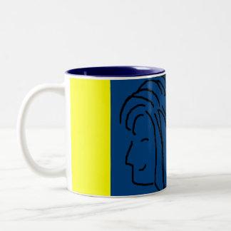 HAPPY LITTLE BLUE GIRL - mug
