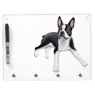 Happy Little Boston Terrier Dog Dry Erase Board