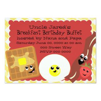 Happy Little Breakfast Personalized Invites