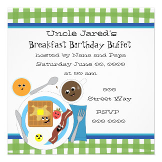Happy Little Breakfast Personalized Announcement