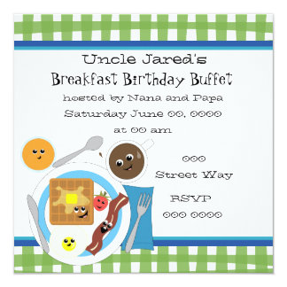Happy Little Breakfast Invitation