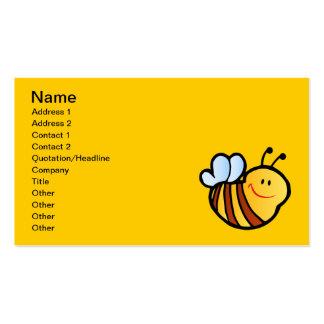 HAPPY LITTLE BUMBLEBEE BEE CARTOON CUTE HONEY INSE BUSINESS CARD