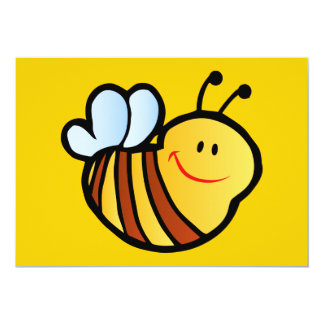 HAPPY LITTLE BUMBLEBEE BEE CARTOON CUTE HONEY INSE CARD