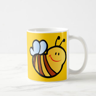 HAPPY LITTLE BUMBLEBEE BEE CARTOON CUTE HONEY INSE COFFEE MUG