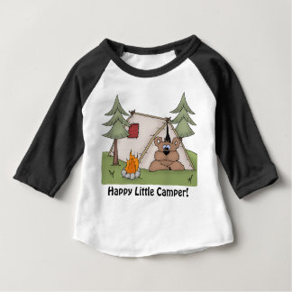 happy little camper baby t-shirt