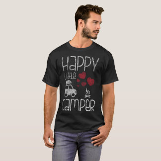 Happy Little Camper Cute Glamping Camping Distress T-Shirt