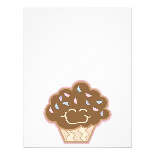 happy little chocolate cupcake flyer design