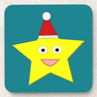 Happy Little Christmas Star Coaster