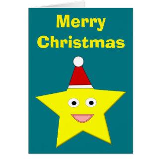 Happy Little Christmas Star Custom Card