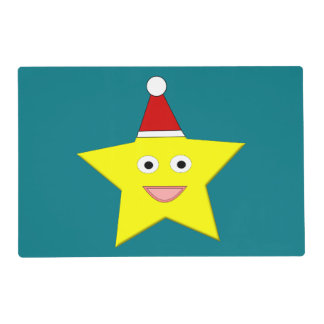 Happy Little Christmas Star Custom Paper Placemat