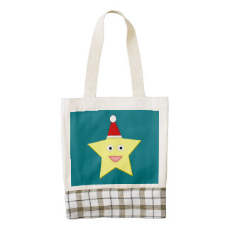 Happy Little Christmas Star Tote Bag