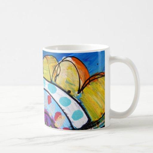 Happy Little Daisy Classic White Coffee Mug