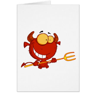 Happy-little-devil-with-pitchfork Card