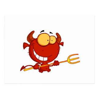 Happy-little-devil-with-pitchfork Postcard