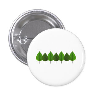 Happy Little Green Tree Leaf Forest 1 Inch Round Button