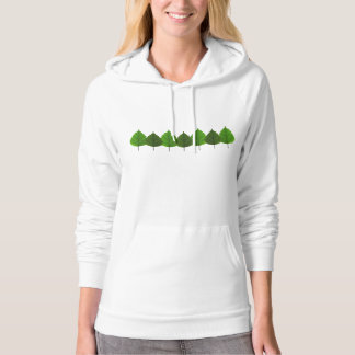 Happy Little Green Tree Leaf Forest Hoodie