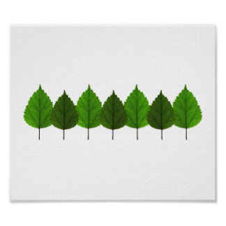 Happy Little Green Tree Leaf Forest Poster